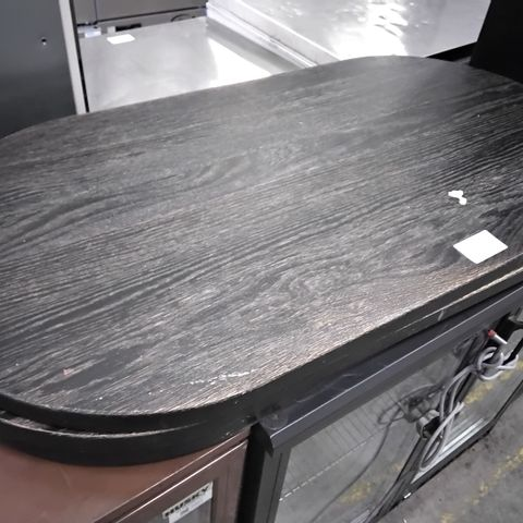 THREE OVAL WOODEN TABLE TOPS