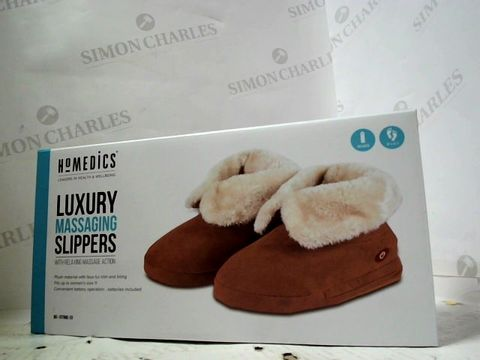 BRAND NEW HOMEDICS LUXURY MASSAGING SLIPPERS (FITS UP TO WOMENS SIZE 11)