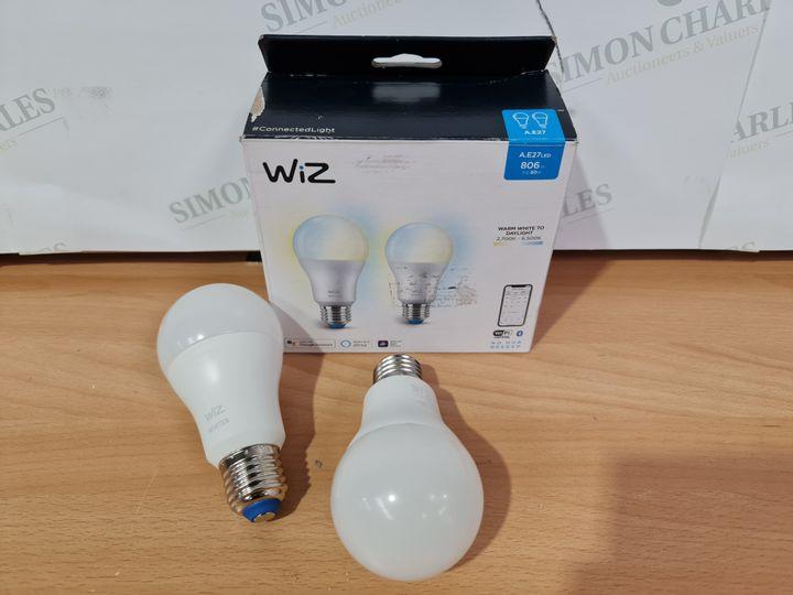 WIZ A.E27 LED SMART WI-FI AND BLUETOOTH LIGHTBULB 2 PACK
