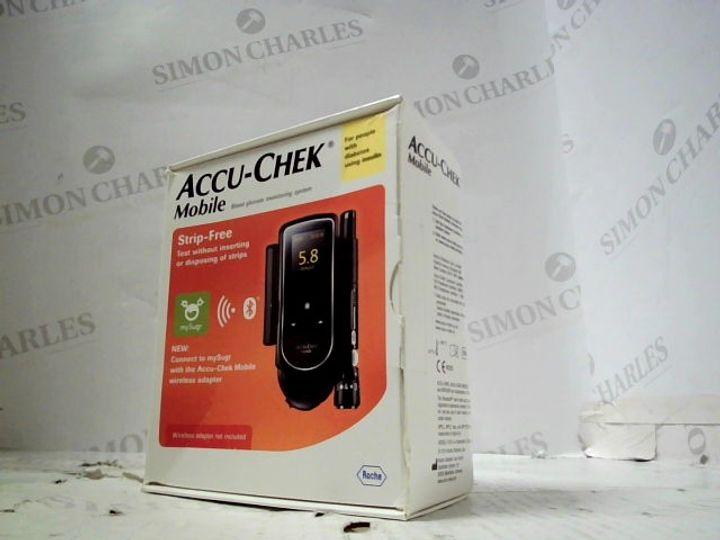 ACCU-CHEK MOBILE BLOOD GLUCOSE MONITORING SYSTEM