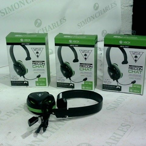 3 X TURTLE BEACH EARFORCE RECON CHAT WIRED HEADSETS