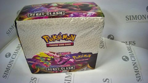BOXED AND SEALED POKEMON TRADING CARD GAME SWORD AND SHIELD REBEL CLASH