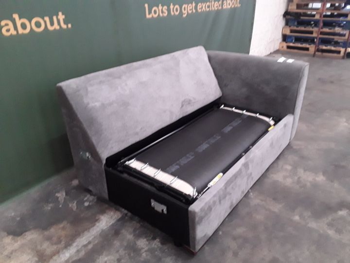 DESIGNER GREY FABRIC SOFABED SECTION