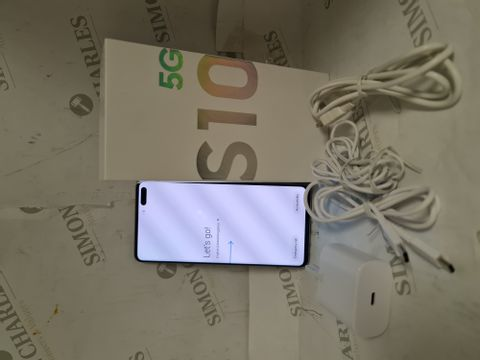 BOXED SAMSUNG S10 5G 256GB ANDROID SMART PHONE - CROWN SILVER