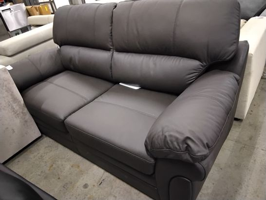 DESIGNER BROWN FAUX LEATHER METAL ACTION SOFABED