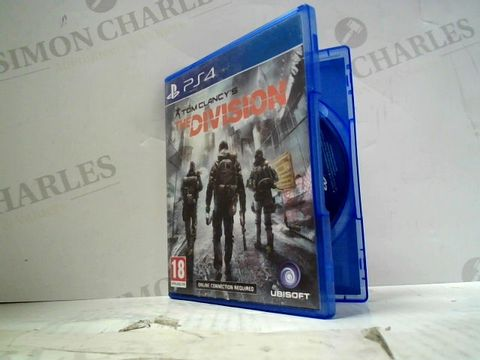 TOM CLANCY'S THE DIVISION PLAYSTATION 4 GAME