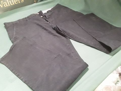 DESIGNER NEXT BLACK STRETCHING STRAIGHT FIT TROUSERS SIZE 40L