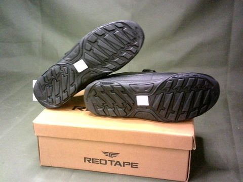 """RED TAPE """"BRAY"""" VELCRO SHOES - SIZE 5, BLACK"""