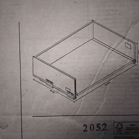 BOXED GOODHOME SOTO 80CM SOFT CLOSE DEEP DRAWER