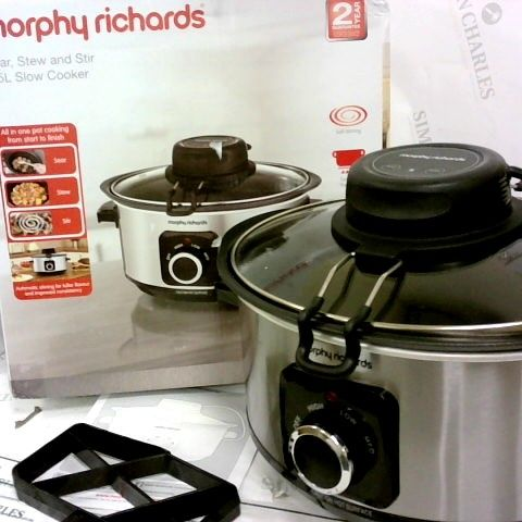 MORPHY RICHARDS 460009 SEAR, STEW AND STIR SLOW COOKER 3.5L