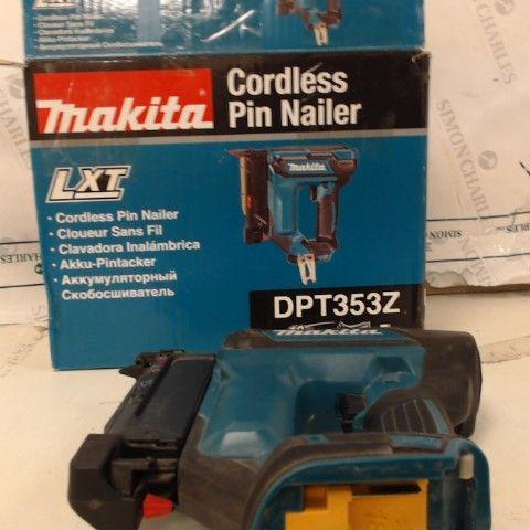 MAKITA DPT353Z PIN NAILER, 18 V, BLUE