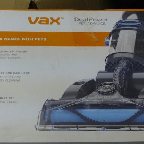 VAX ECR2V1P DUAL POWER PET ADVANCE CARPET CLEANER
