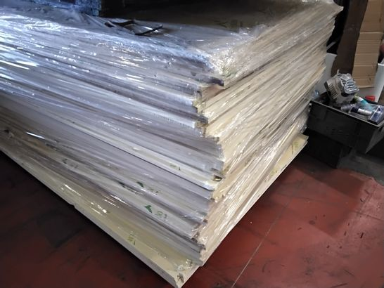 PALLET OF APPROXIMATELY 50 TIMBOPLAST WALLBOARDS APPROX SIZE 8' × 4' 16mm thick