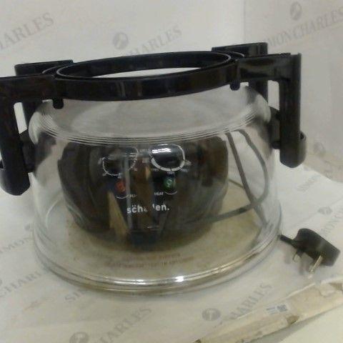 SCHALLEN 17L 2 IN 1 DELUXE BLACK/GLASS AIR FRYER