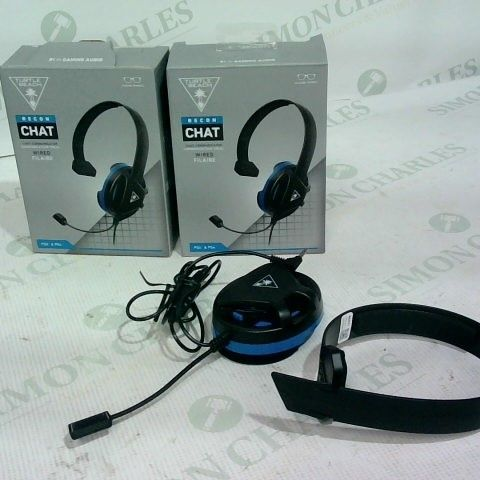 3 X TURTLE BEACH RECON CHAT WIRED HEADSETS