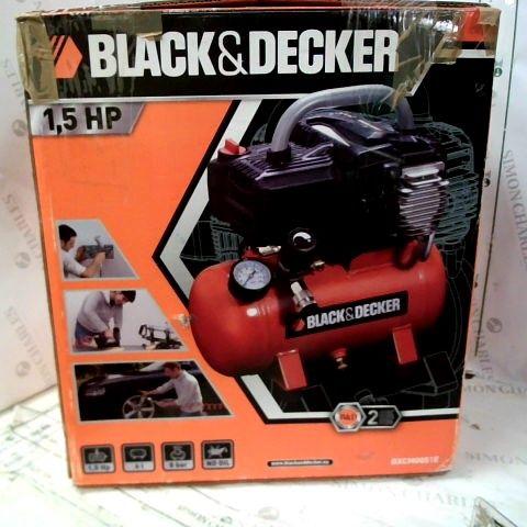BLACK AND DECKER AIR COMPRESSOR BD 195/6-NK