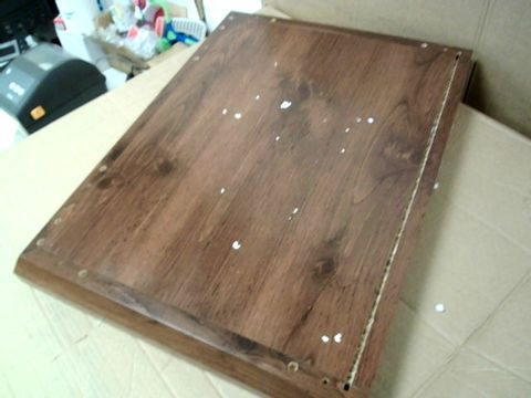 BOXED CLIFTON WALNUT-EFFECT LAMP TABLE (1 BOX)