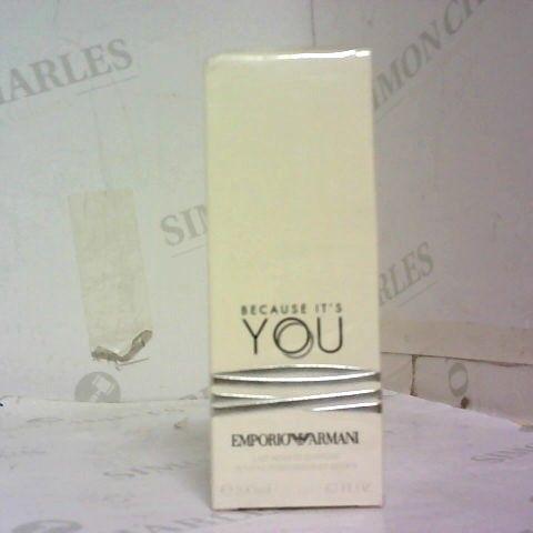 BOXED GIORGIO ARMANIEMPORIO ARMANI BECAUSE IT'S YOU SENSUAL PERFUMED BODY LOTION 200ML