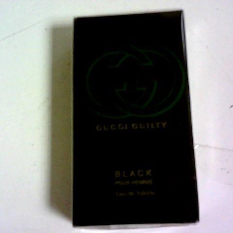 BOXED GUCCI GUILTY BLACK POUR HOMME EAU DE TOILETTE 50ML