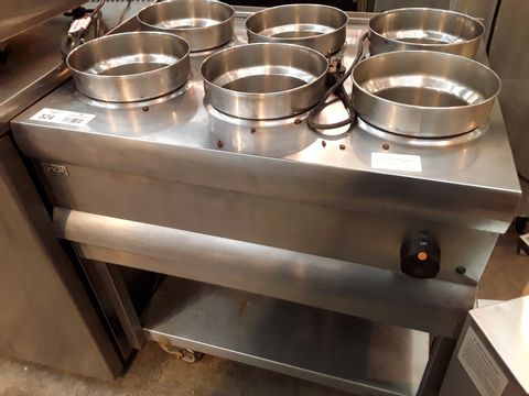 LINCAT 6 POT ELECTRIC BAIN MARIE TROLLEY