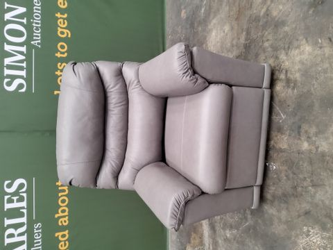 QUALITY G PLAN MALVERN DALLAS CHARCOAL LEATHER POWER RECLINING EASY CHAIR