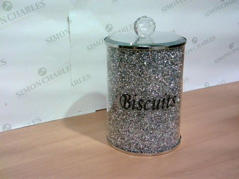 MIRROR/SILVER CRYSTAL BISCUIT JAR
