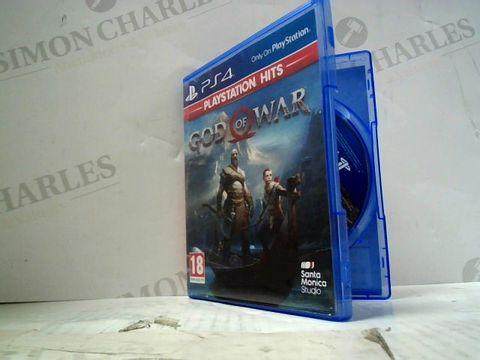 GOD OF WAR PLAYSTATION 4 GAME