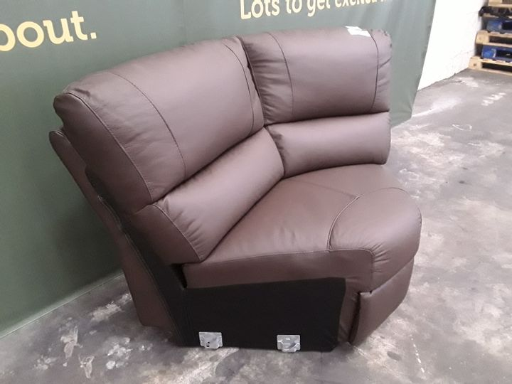 DESIGNER BROWN FAUX LEATHER SOFA SECTION