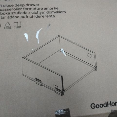 BOXED GOODHOME SOTO 50CM SOFT CLOSE DEEP DRAWER