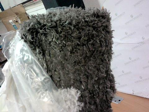 COZEE HOME AURORA SHAGGY RUG -CHARCOAL