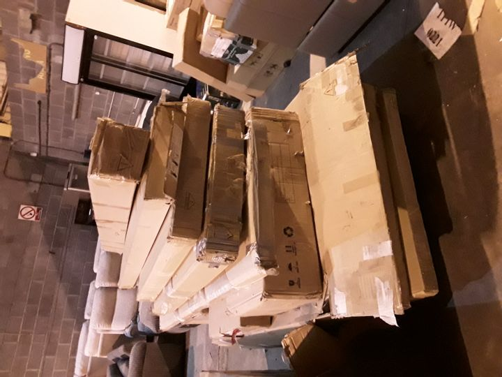 PALLET OF ASSORTED FLAT PACK FURNITURE PARTS