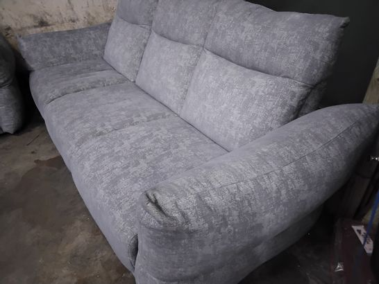 QUALITY G PLAN TESS NEST ASH FABRIC LOUNGE SUITE, COMPRISING, THREE SEATER SOFA & EASY CHAIR