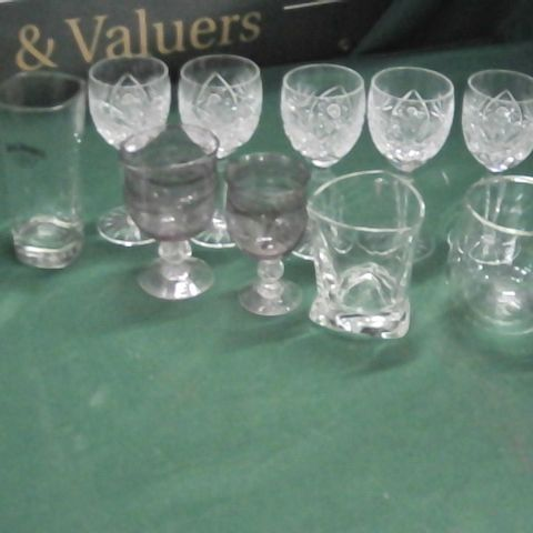 LOT OF 11 ASSORTED GLASSES