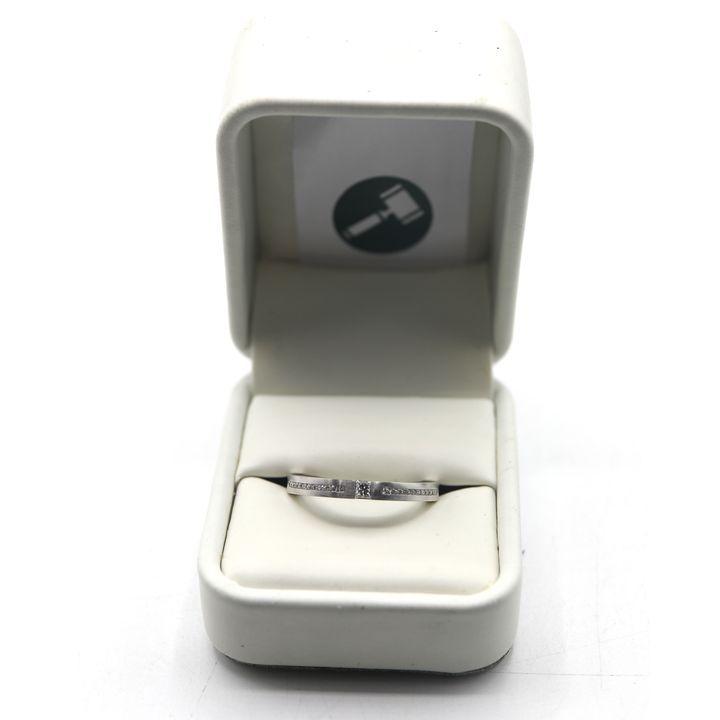 DESIGNER 18ct WHITE GOLD UNISEX DIAMOND SET WEDDING BAND