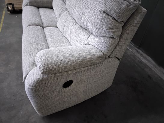 QUALITY G PLAN MINSTRAL WAFFLE TAUPE FABRIC POWER RECLINING THREE SEATER SOFA