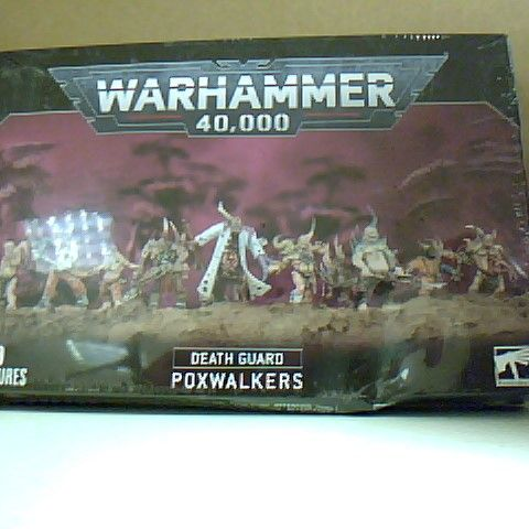 BOXED AND SEALED WARHAMMER 40,000 DEATH GUARD POXWALKERS 10 MINIATURES