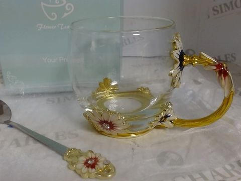 JUST FOR YOU WITH LOVE - FLOWER TEA CUP