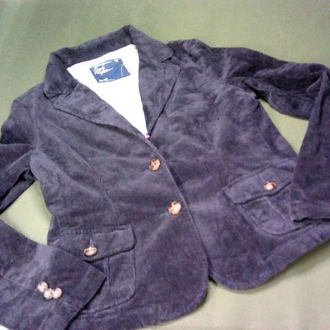 AMERICAN EAGLE OUTFITTERS CORDED JACKET IN DEEP PURPLE - M