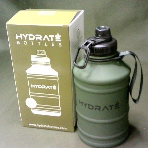 HYDRATE 2.2L DRINKS BOTTLE IN CAMO GREEN