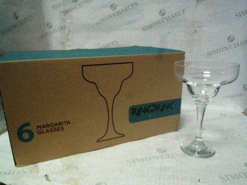 RINKDRINK MARGARITA GLASSES 6PC SET