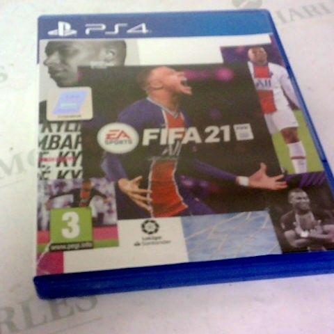 FIFA 21 PLAYSTATION 4 GAME