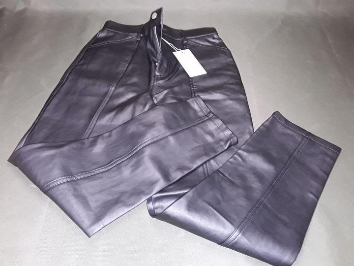 OLIVER BONAS BLACK PU TROUSERS - 10