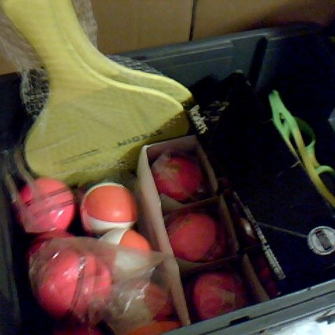 ASSORTMENT OF SPORTING ITEMS INCLUDING HEAD TENNIS BALLS AND READERS CRICKET BALLS
