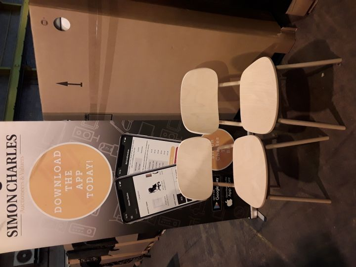 BOXED PAIR OF ZEST RAW BEECH SIDE CHAIRS (1 BOX)