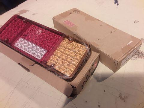 PAIR BOXED LED REAR LIGHT UNITS