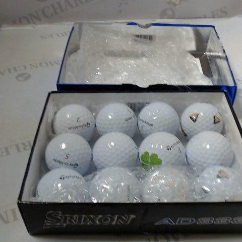 BOX OF 12 ASSORTED GOLF BALLS