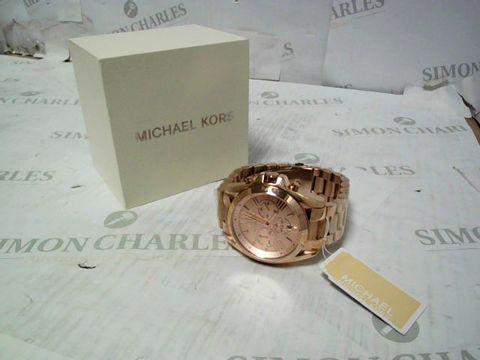 MICHAEL KORS MK5503 BRADSHAW ROSE GOLD TONE CHRONOGRAPH LADIES WATCH
