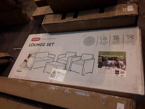 BOXED GRADE 1 KETER ALLIBERT OKLAHOMA LOUNGE SET (1 BOX)