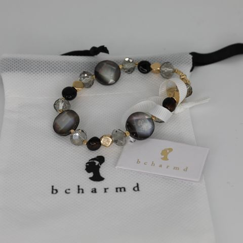 BRAND NEW BCHARMD CRAIN BLACK MIX ABALONE BRACELET