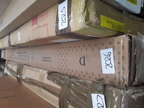 BOXED ELIZA CHERRY COLOURED SIDERAILS FOR DOUBLE BED (1 BOX)